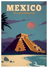 MAGNET  TRAVEL Photo Magnet  MEXICO Land of Shaking Earth Pyramid