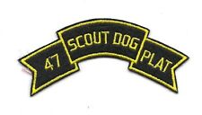 US Army 47th Scout Dog Platoon patch