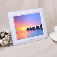 7' HD TFT-LCD Digital Photo Frame with Alarm Clock Slideshow MP3/4 Player Hoc