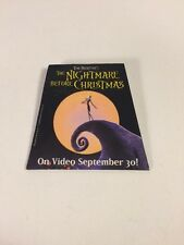 Tim Burton's The Nightmare Before Christmas On Video Promotional Pin Advertising