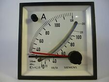 Siemens EMC96 0-120A Amperemeter analog Einbaumessgerät neu