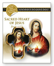 SACRED HEART JESUS MAGNETIC OR SELF ADHESIVE PROTECT US RELIGIOUS CAR PLAQUE