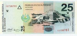 COLONES USED BEFORE USD$ 80 2 EL SALVADOR SET 1 10 96 76 ,10 98 5