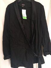 H&M Conscious Collection Blazer Kimono Smart Trend Premium Black Silky