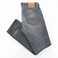 Vintage LEVI'S 501 Blue Denim Regular Straight Jeans Mens W34 L34