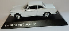NEUF NOREV PEUGEOT 407 COUPE 1967 BLANCHE IN BLISTER BOX