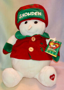 COMMONWEALTH SNOWDEN  * SNOWMAN * RED AND GREEN * ORIGINAL TAG *1998 * NEW *