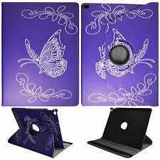 For Apple iPad Pro 12.9 inch Tablet Case Cover Butterfly on Purple Style
