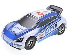 1:18 RC Rally Car Electric 2.4GHz Radio Remote Control 4WD RTR Blue New