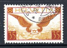 (017)Switzerland 1923-40 Air 35c Lake Brown & Brown Ochre SG320a VF Used Cat £65
