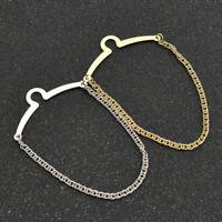 1Set Necktie Link Tie Chain Cravat Mens Collar Brooch Alloy Tack Clip Jewelry