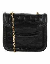 $1700 NEW Auth Alexander McQueen Chain Croc Mini Heroine Crossbody bag purse