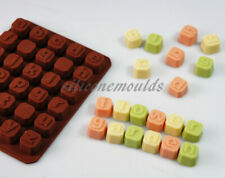 Lower Case Alphabet Blocks Silicone Mould Letter Word Chocolate Candy Wax Melt
