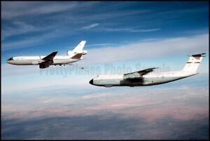 USAF KC-10 Extender Refuels C-5 Galaxy 60th MAW 1980 8x12 Photo