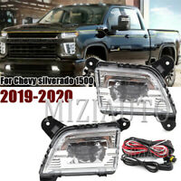 Pair Front bumper LED Fog Light Lamp For Chevy silverado 1500 2019-2020 w/Switch