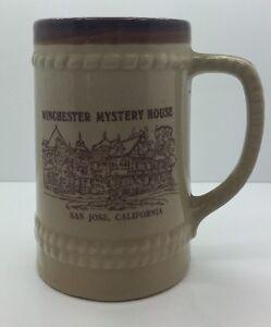 WINCHESTER MYSTERY HOUSE Vtg Tall Coffee Mug SAN JOSE, CA Collectable 70's RARE!