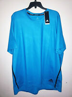 Mens Adidas AeroReady Primeblue Short Sleeve Athletic T-Shirt New NWT Size XXL