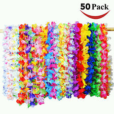 50x Tropical Hawaiian Luau Flower Leis Party Favors Tropical Events Supplies 36""