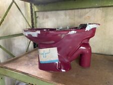 Royal Doulton Optima close coupled 'S' trap syphonic pan in Burgundy