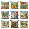 Garden Animal Pillow Case Flower Bird Couch Cushion Cover Living Room Decorative
