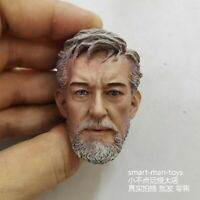 1/6 Male Head Sculpt Carved Model Star Wars Obi-Wan Kenobi Figure Toy Collection