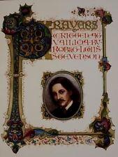 Stevenson Sangorski Prayers at Vailima Color Plates Book Illuminated Manuscript