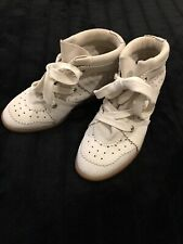 Isabel Marant Bobby Chalk Trainers Sneakers Size 38 UK 5