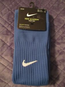 Nike Academy Soccer Knee High Blue Men's Socks With Dri-Fit-Men Size 8-12-New