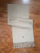NWT POLO RALPH LAUREN BRIGHT CAMEL NECK WRAP 100% ITALIAN CASHMERE SCARF