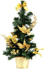 dekorierte weihnachtsb ume in gold g nstig kaufen ebay. Black Bedroom Furniture Sets. Home Design Ideas
