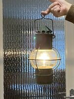 Antique Ships Lantern Boat Lamp Electrical Conversion Hanging Globe Copper Old