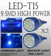 2 pairs T15 Blue LED Replace Backup Wedge Lights Bulbs Lamps Plug & Play T184