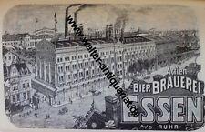 Actien Bier Brauerei Essen a.d. Ruhr Werbeanzeige anno 1902 Reklame Werbung ad