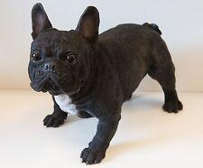 Garden Resin Animal Gift Ornament Pet Standing Dog Black White French Bulldog