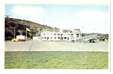 1950s Göteborg Airport Torslanda G-AGNC Douglas DC-3 Color Photo Postcard