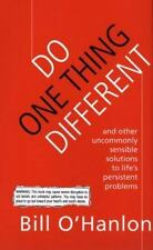 Do One Thing Different:10Simple Ways to Change Your Life HC Very Good Free Ship