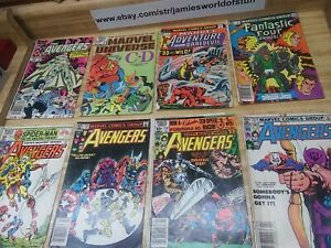 Vintage Marvel Comics Lot Of 8 Bronze And Copper Age ROUGH CONDITION (BB)