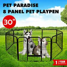 "Heavy Duty Dog Playpen 8 Panel 30"" Portable Pet Puppy Exercise Cage Enclosure"