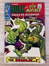 Tales to Astonish #91 (Marvel Comics) Hulk and Sub-Mariner appearance
