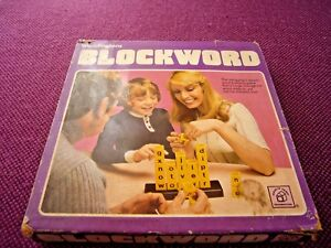 Vintage Waddington's Blockword game 1977. Family word game