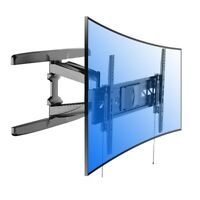 "Loctek R2L Wall Mount for Curved Panel UHD HD Flat TVs 32-70"" Articulating Arm"