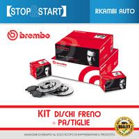 Kit Dischi freno + Pastiglie BREMBO Fiat Panda 2 169 1.1 1.2 dal 2003 Anteriori