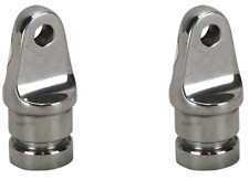 2x Boat Canopy Fitting Tube Ends 22mm Marine Bimini Tube End 22mm 316 Stainless
