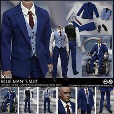"""1/6  Scale X-Men Blue Man's Suit Clothes Set Fit 12"""" Action Figure Male Body Toy"""