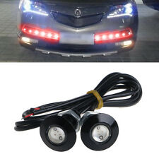 1 Pair Ultra Thin Car LED DRL Daytime Running Light Eagle Eye Lamp Red 23mm 12V