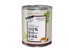 naftie Bio-Hundefutter 100% Bio Rind, Nassfutter Reinfleisch für Hunde, 6x800g