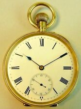 GENTLEMANS ANTIQUE 18K GOLD SWISS MADE POCKET WATCH WITH ORIGINAL BOX C.1900