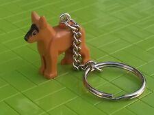 1 x German Shepherd Alsation Key Ring - Lego Dog - Bag Charm Stocking Filler
