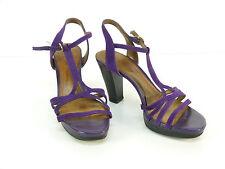 Tod's de salón talla 37/lila oscuro & lujo pur-Echt Leder (n 4374 R)