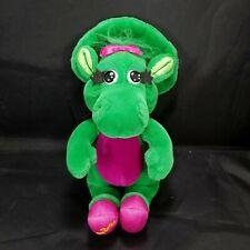 "Barney And Friends Baby Bop Plush Dinosaur 13"" Green Purple Lyons Stuffed Animal"